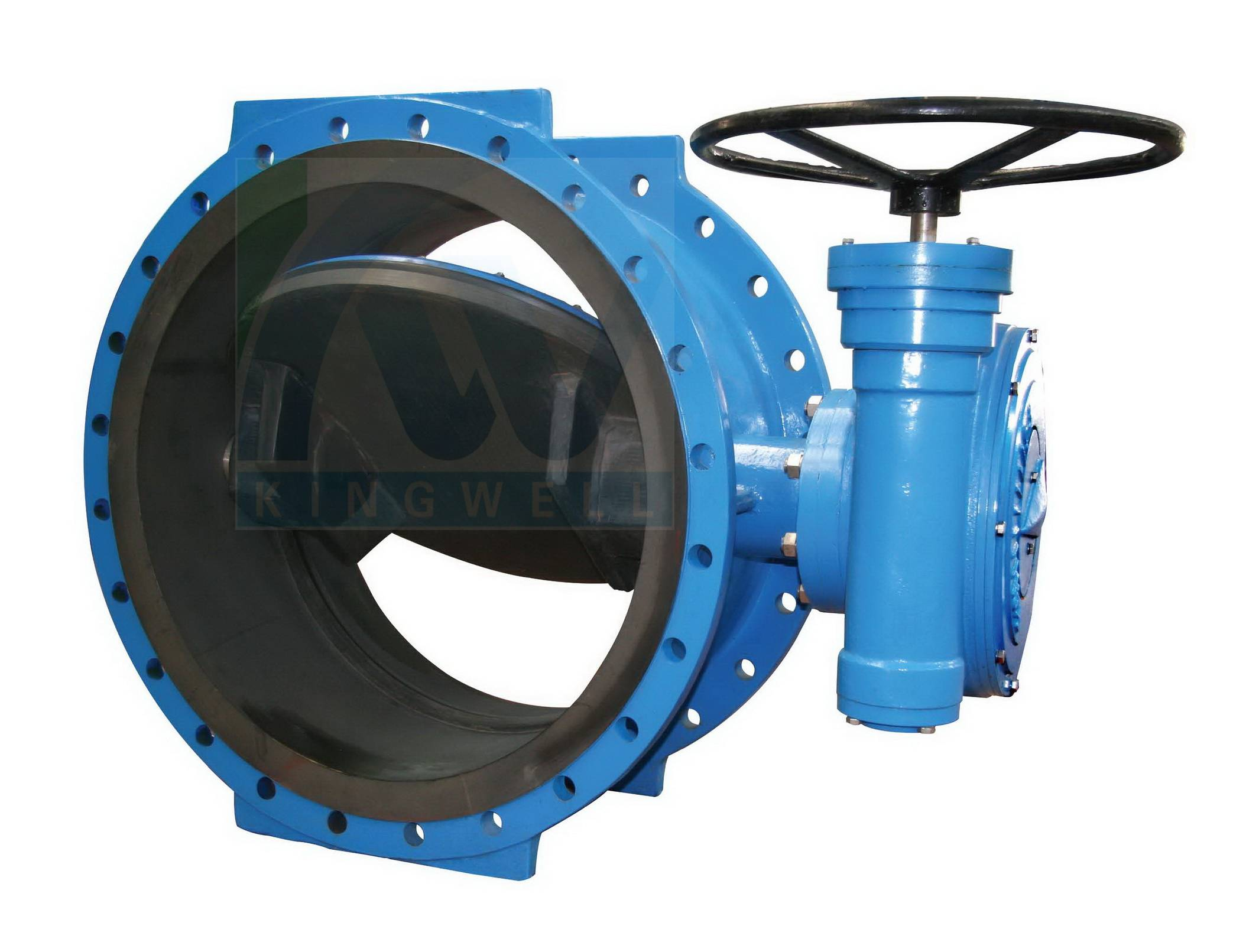 Resilient rubber lined  flanged butterfly valves