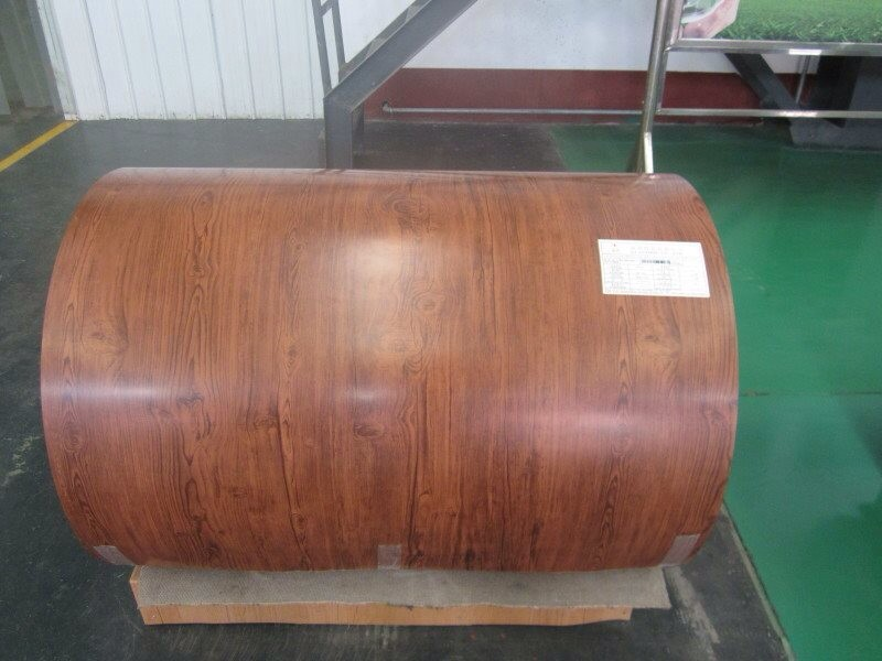 ISO standard wooden color PPGI/prepainted galvanized steel coil