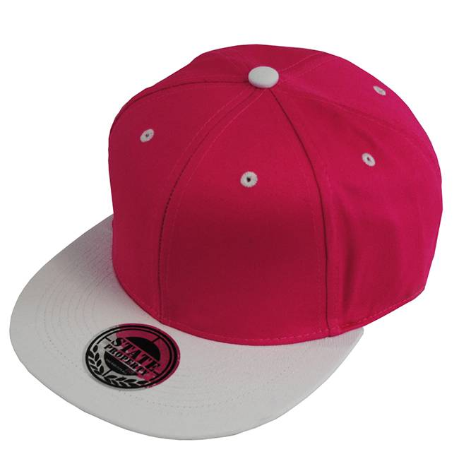 Flat Hat Cotton Snapback Cap with 3D Embroidery