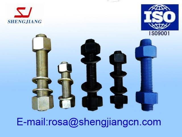ASTM a193 b7 a194 2h stud bolts with nuts and washer ,Chin