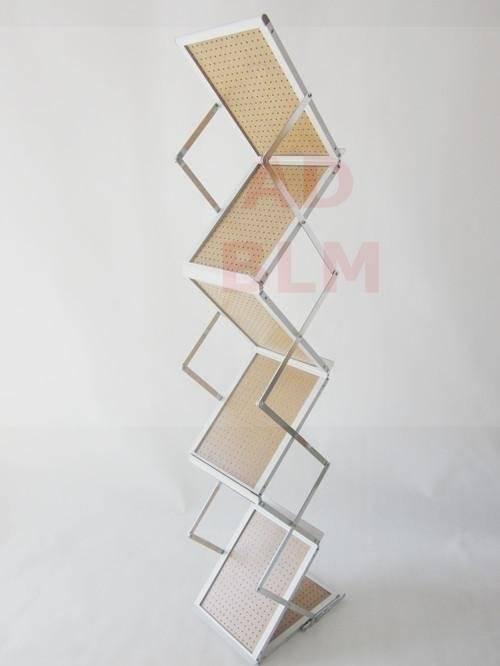 Direct Manufacture A4 Doubled Sided Shelves Aluminum Metal Brochure Holder/Magazine Shelf BLM-303
