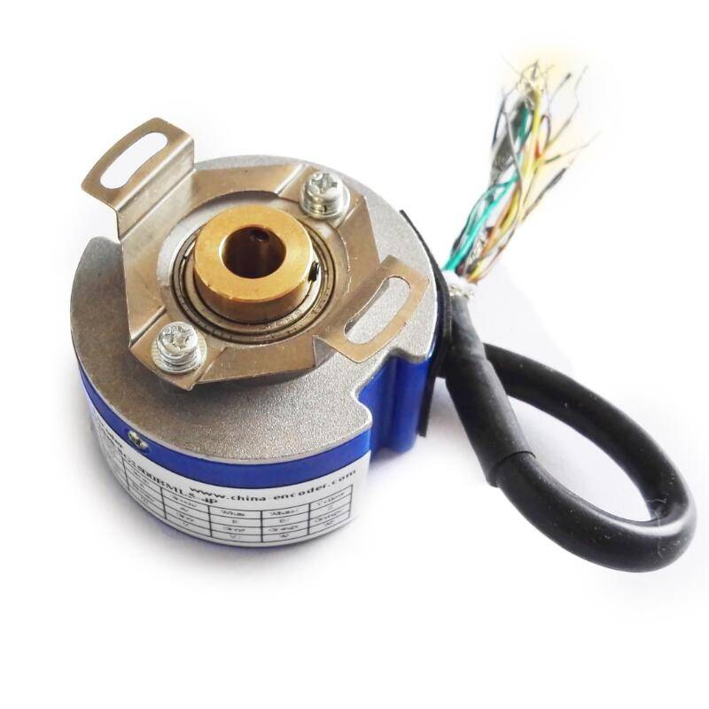 2500 pulse Semi-hollow servo motor encoder with 8 poles
