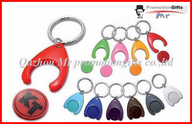 w design supermarket shopping trolley token coin key chain