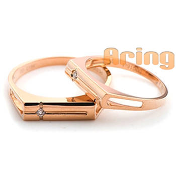 Wholesale 18k Gold Jewelry Diamonds Wedding Rings 18k rose gold