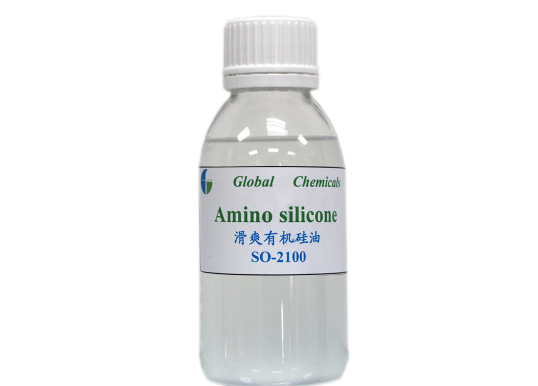 Weak Cationic Amino Silicone SO-2100 Pale Yellow or Transparent viscous liquid