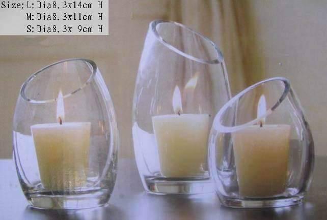 Glass Candleholder