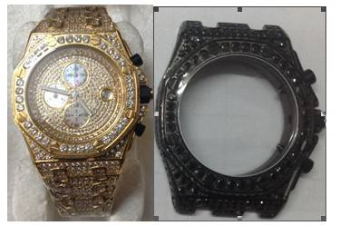 Mens Iced Out AP Style CZ Watch
