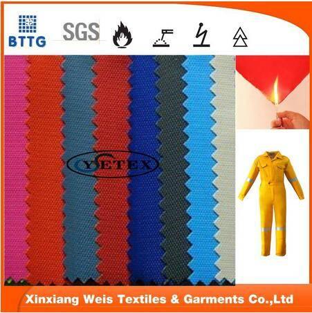310gsm 16*10 cotton flame retardant satin fabric