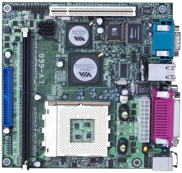 Mini ITX Motherboard 170x170 mm