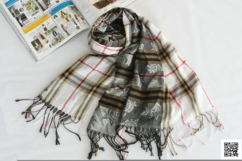 A123,grid pattern check design acrylic fashion scarf