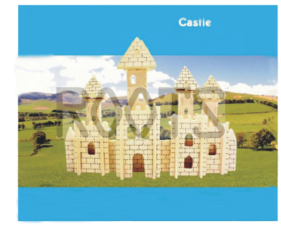 Castle-3d wooden puzzles, wooden construction kit,3d wooden models, 3d puzzle