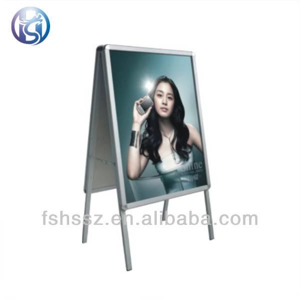 Aluminium extrusion round corner promotion poster stand H39