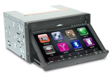 7 Inch Double-din DVD Player with Touchscreen,GPS