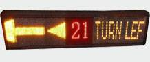 Led display sign for bus