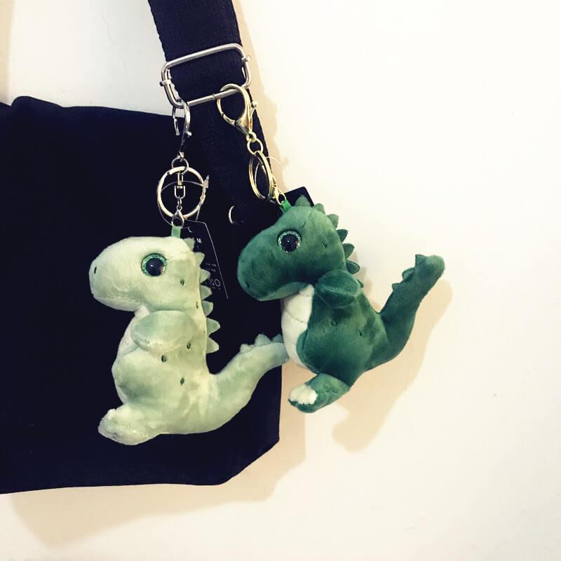 Custom plush lovely dinosaur keychain toys