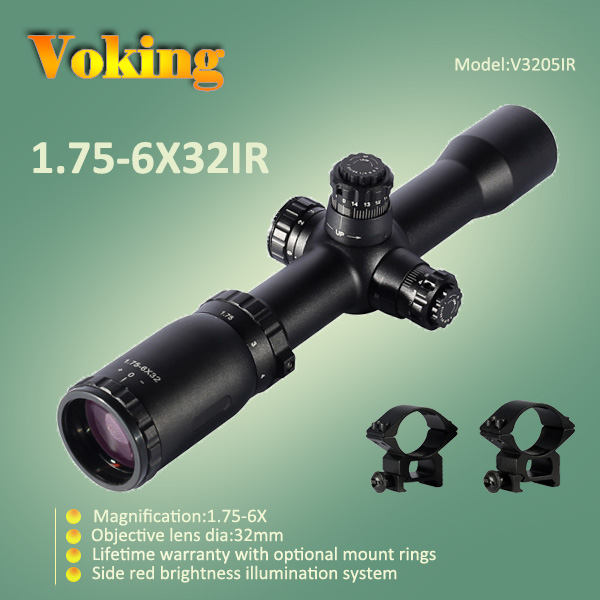 Voking 1.75-6X32 IR magnifier scope with your own APP