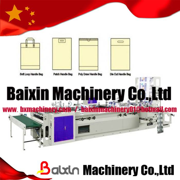 glue patch handle carrier bag making machine