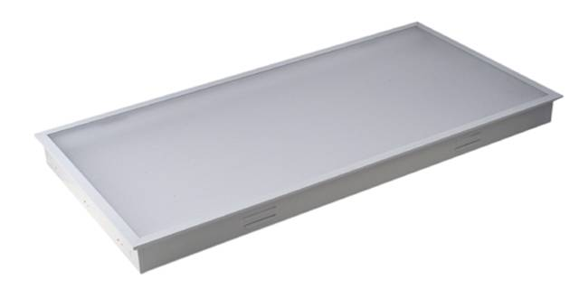 recessed panel light with film cover