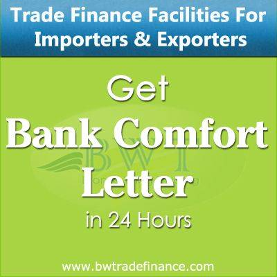 Avail Bank Comfort Letter for Importers & Exporters