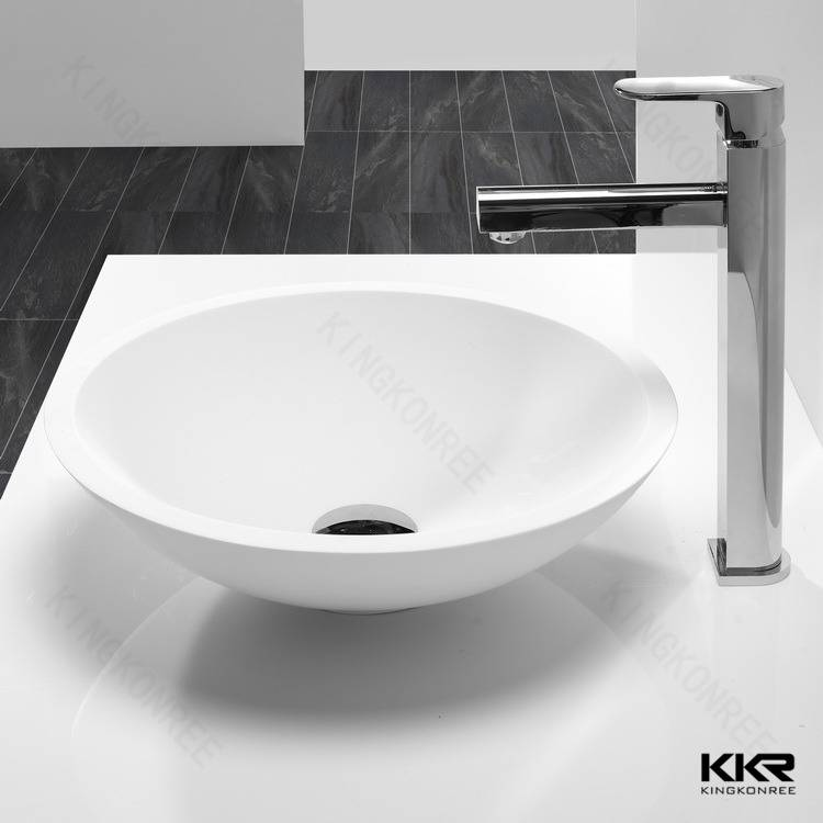Small round solid surface cheap wash hand basin
