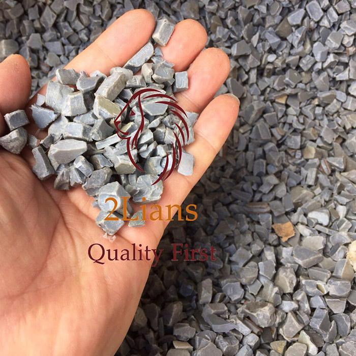 Grey PVC Pipe Regrind Plastic Scraps