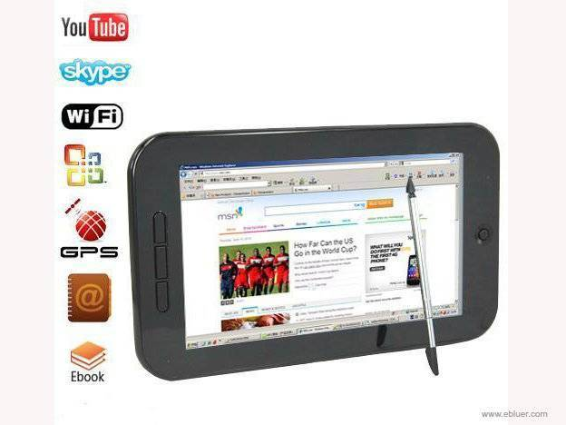 Samsung CPU 7 Inch GPS Tablet Laptop Windows CE