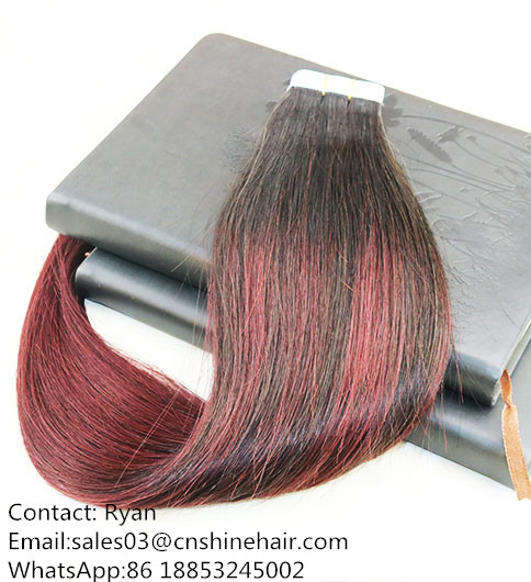 Whosales Tape hair #1B with good quality