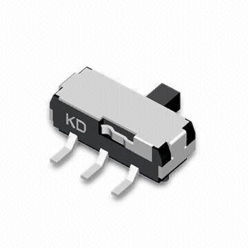 SMD Mini Slide Switch with Insulation Resistance of 100M Ohms Minimum