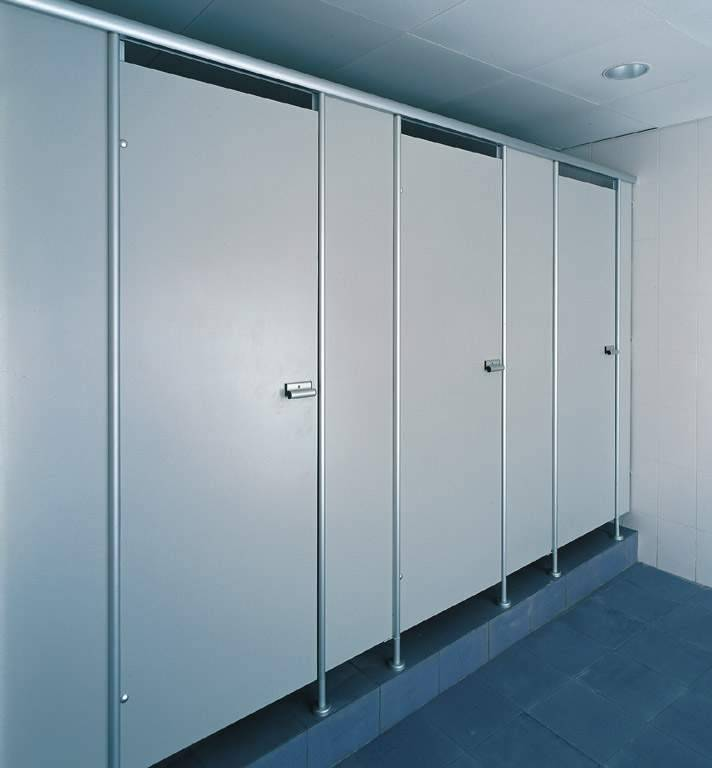 304 Stainless Steel Toilet Cubicle Accessories 13mm Thickness HPL laminated toilet cubicle partition