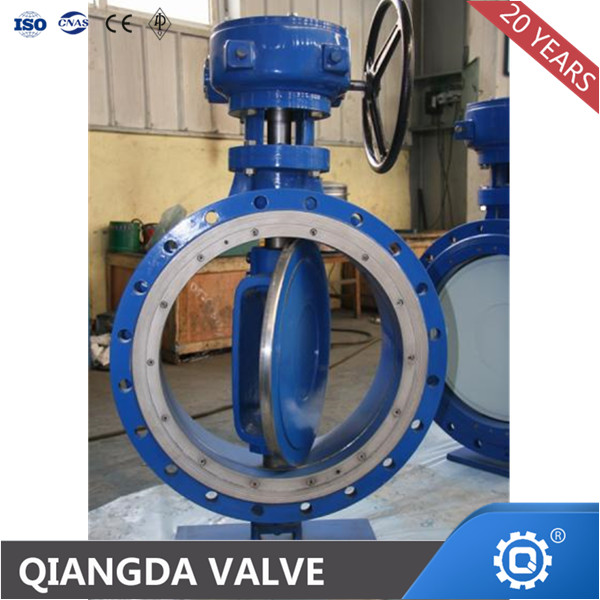 API 609 metal seat flange triple eccentric butterfly valve motorized valve actuator