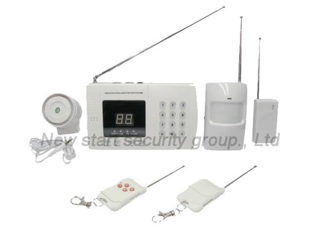 Wireless PSTN alarm system with 99 zone