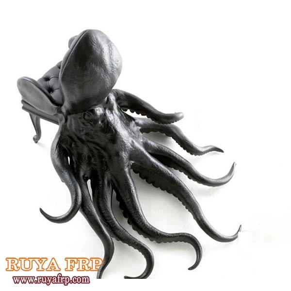 FRP octopus chairs design fiberglass commercial furniture office decoration factory China