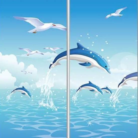 dolphins sliding door