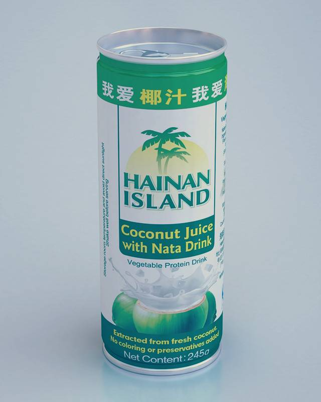 Coconut Juice with Nata Drink (245ml), NO Preservatives and Colouring, NATURE INGREDIENT USED
