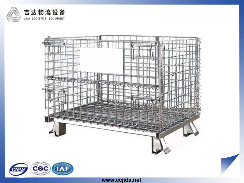 cheap foldable wire mesh container pallet cage