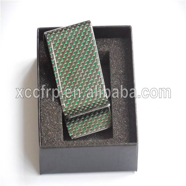 Ultra lightweight money clip 100% real carbon fiber cash clip carbon fiber card wallet