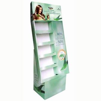 Cardboard cosmetic floor display stand