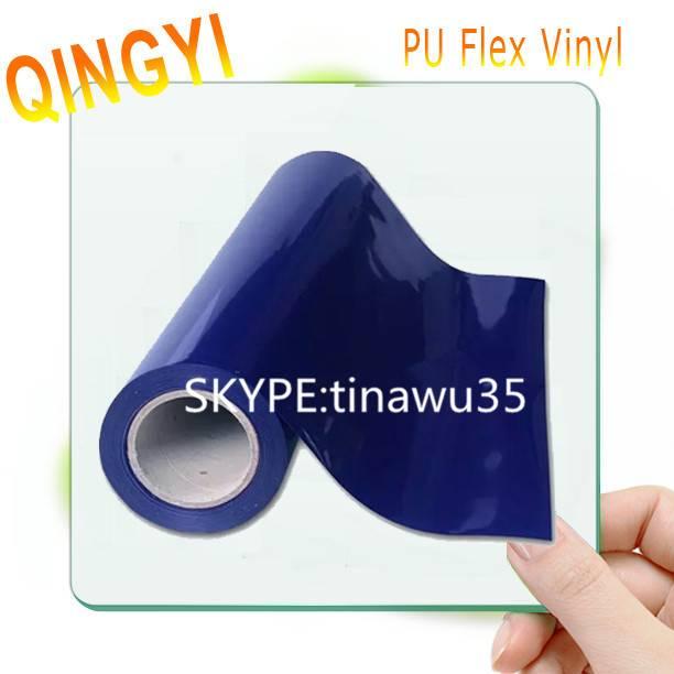 High-elastic Purple PU heat transfer vinyl for basketball uniform