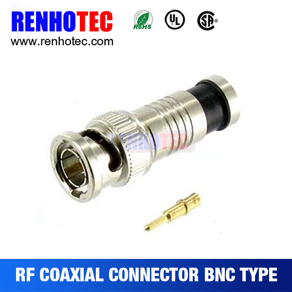 RF coaxial BNC plug with one year quality guarantee