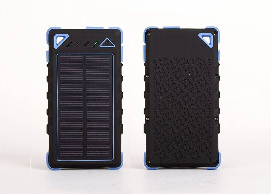 LYCEK Great Brand 2015 Portable Solar Power Bank, Dual USB Mobile Solar Charger
