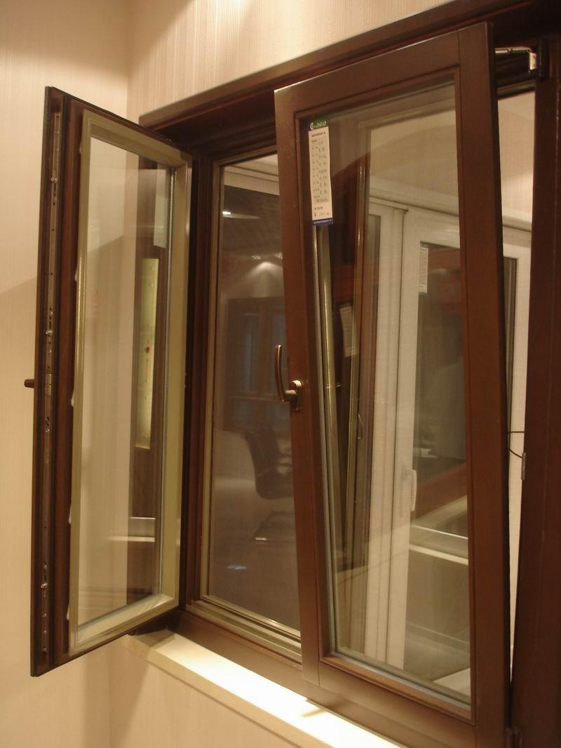 Fashionable aluminum wood composite tilt &turn doors and windows for living room