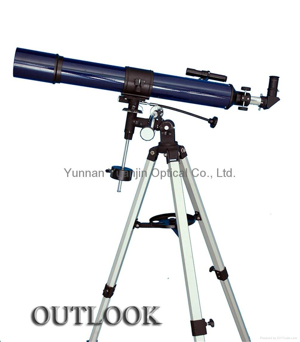Professional beginners' refracting telescope 80x900EQ astronomical binoculars