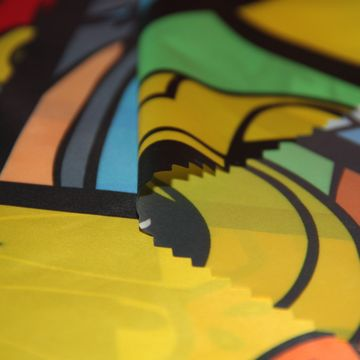 Printed high-density polyester downproof fabric for down jacket