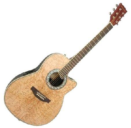 41 inch Electric Acoustic Guitar in Natural Wood Finish