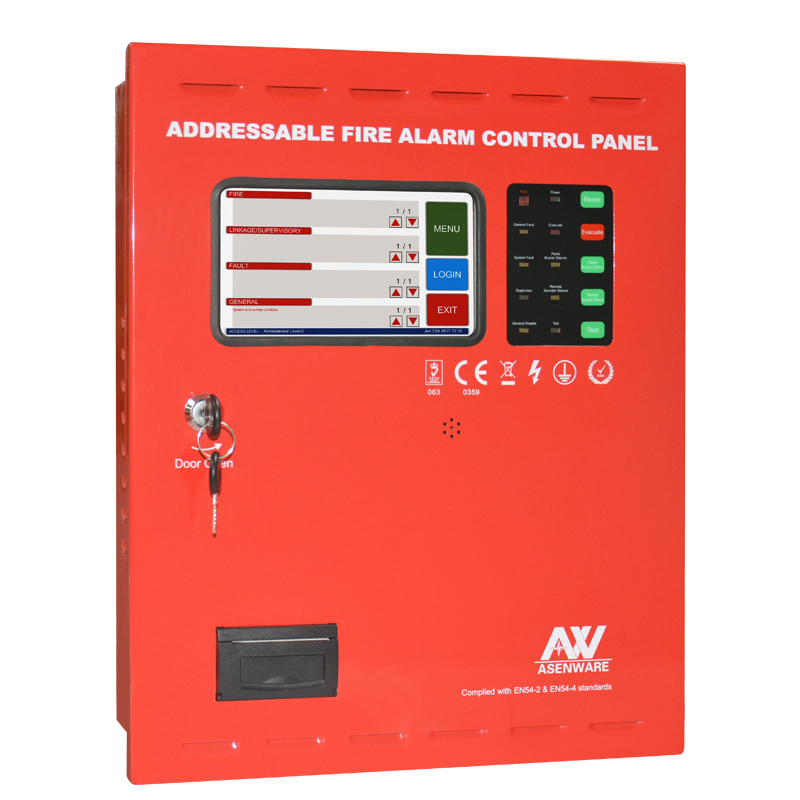 Asenware Addressable fire alarm control panel 1 to 8 loops