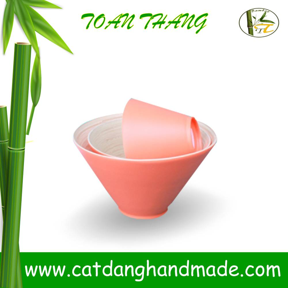 spun bamboo bowl with new design 2015 for salad