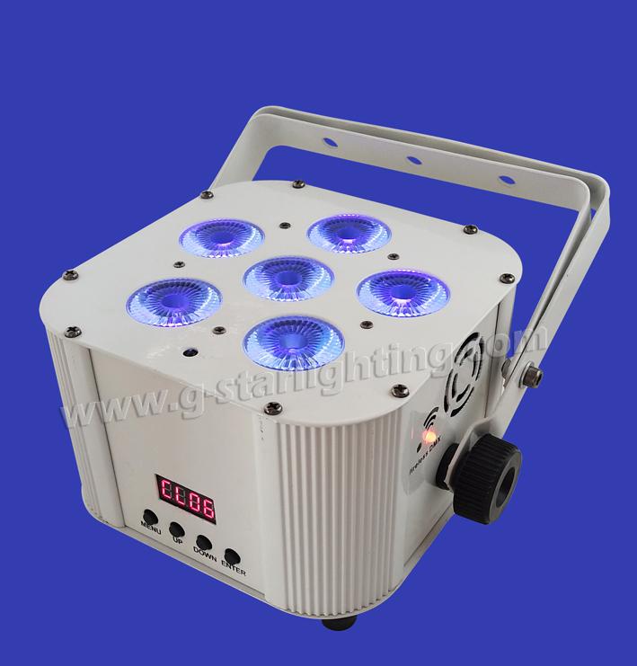 Wireless/Battery 6PCS 6IN1 RGBWA+UV LED PAR LIGHT