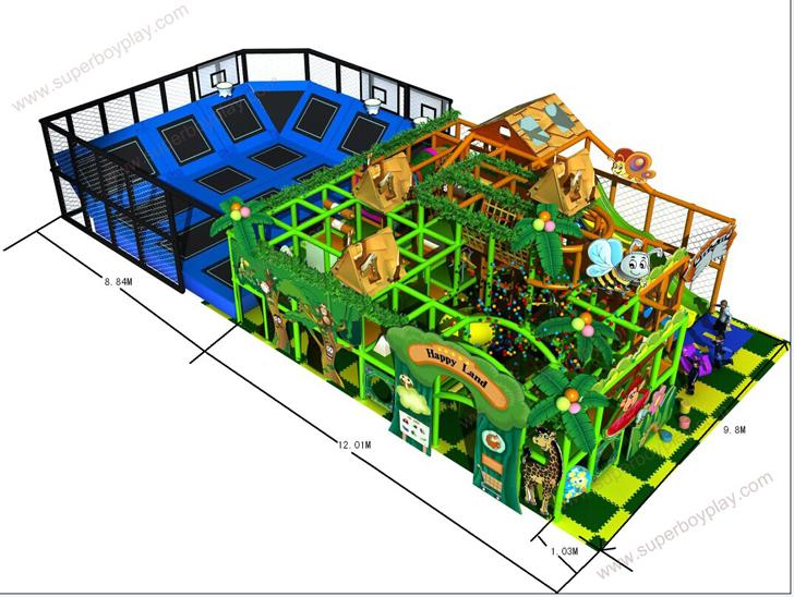 HLB-I17024 Children Amusement Park Items Kids Indoor Soft Play Equipment