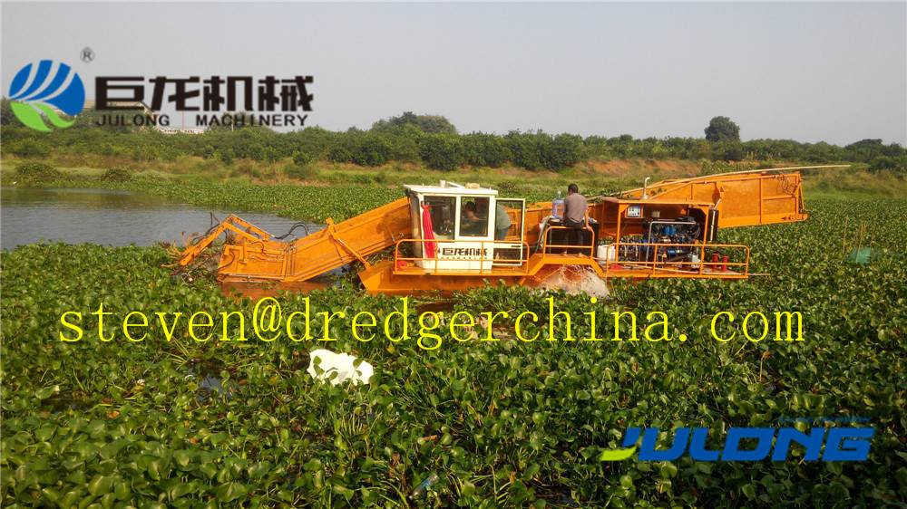 Julong Aquatic Weed Harvester, Water Area Cleaning Ship, Weed Cutter