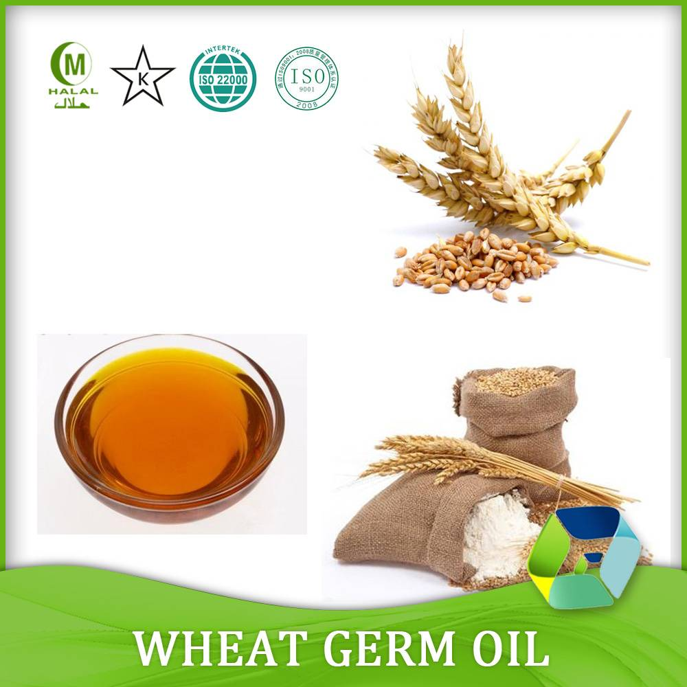 Pure wheat germ oil/wheat germ carrier oil for cosmetics